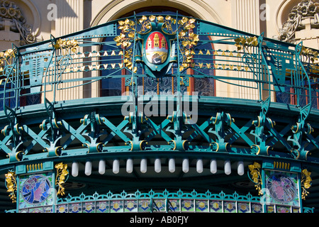Obecni dum 1905 1911 A Balsanek O Polivka Stare Mesto UNESCO Praha Ceska republika - Stock Photo