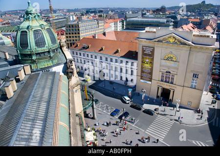 Obecni dum a divadlo Hybernia Stare Mesto UNESCO Praha Ceska republika - Stock Photo