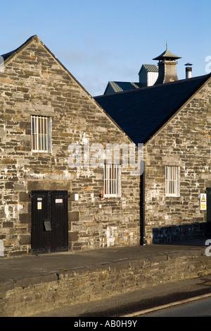 dh  KIRKWALL ORKNEY Highland Park whisky bond store sheds - Stock Photo