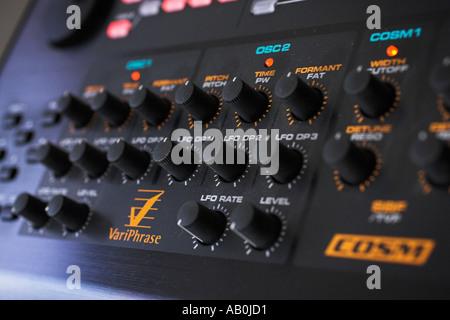 synthesizer controls - Stock Photo