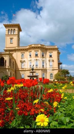 Flowers Osborne House, East Cowes, Isle of Wight, England, UK, GB. - Stock Photo