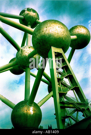 Atomium tower Brussels - Stock Photo