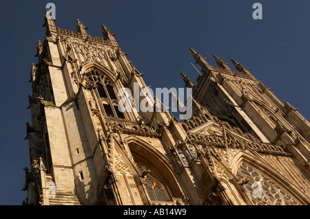 WEST FACE OF YORK MINSTER YORKSHIRE ENGLAND - Stock Photo
