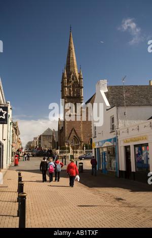 UK Scotland Western Isles Outer Hebrides Lewis Stornoway Francis Street - Stock Photo