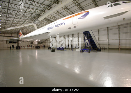 Concorde at East Fortune Airfield, Scotland - Stock Photo