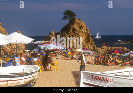 SPAIN Catalonia Platja de la Mar Menuda - Stock Photo