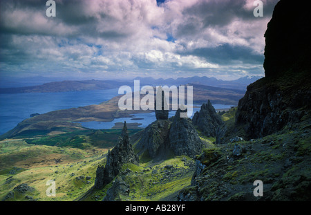 the Old Man of Storr, Isle of Skye, Scotland, UK - Stock Photo
