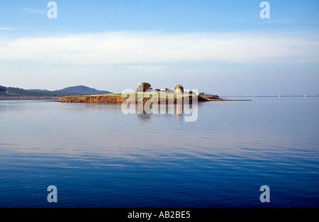 Island with old structure Ayvalik Turkey - Stock Photo
