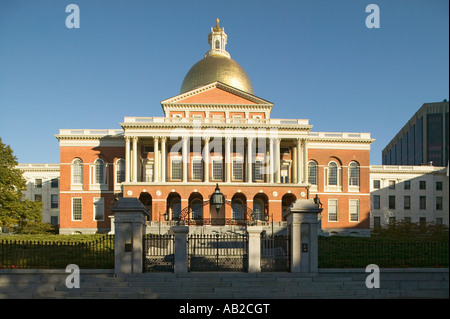 The Old State House for the Commonwealth of Massachusetts State Capitol Building Boston Mass - Stock Photo