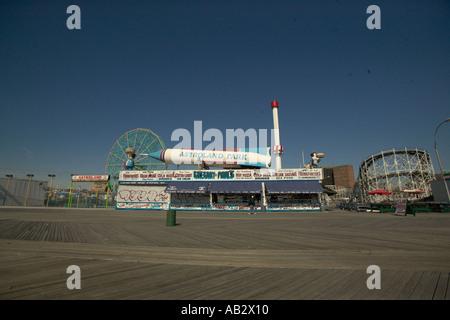 A fairground in Colney Island - Stock Photo
