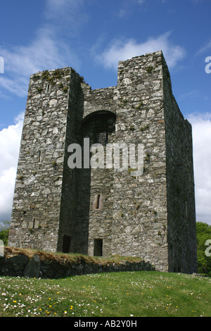 Audleys Castle, Strangford, County Down, Northern Ireland - Stock Photo