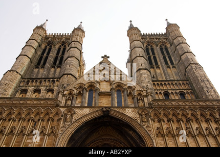 Front view of Lincoln Catherdral - Stock Photo