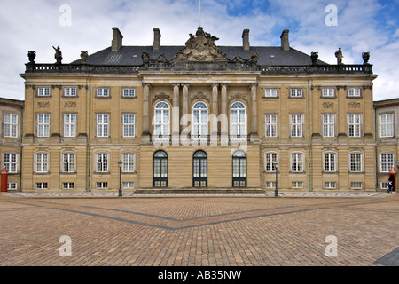 Christian VIII's Palace, also known as Levetzau's Palace at Amalienborg in Copenhagen Denmark. - Stock Photo