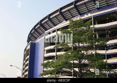 Partial exterior of Shea Stadium, Flushing, Queens, NY, USA - Stock Photo