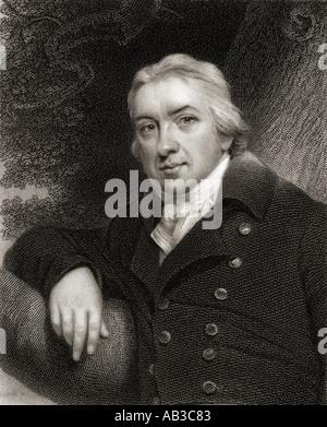 Edward Jenner, 1749 -1823.  English surgeon, discoverer of Smallpox vaccination - Stock Photo