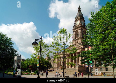 Bolton Town Hall Square England UK - Stock Photo