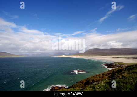 Sound of Taransay and Seilebost Beach, Isle of Harris,Outer Hebrides,Western isles,Scotland,UK - Stock Photo