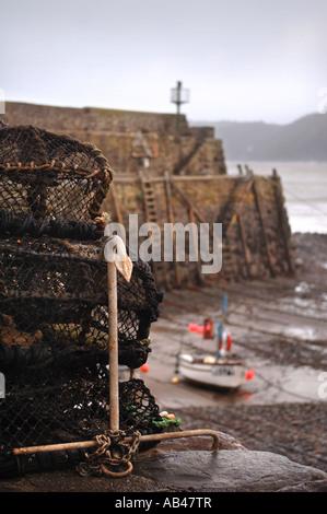 THE NORTH DEVON FISHING VILLAGE OF CLOVELLY UK - Stock Photo