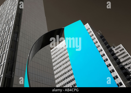 SWEDEN STOCKHOLM HIGHRISES AT HOTORGET CITY - Stock Photo