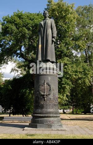 Statue of Felix Dzerzhinsky in Muzeon Sculpture Park, Moscow - Stock Photo