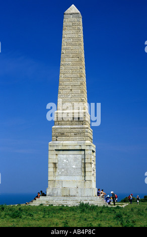 Monument to the memory of The Earl of Yarborough Culver Down - Stock Photo