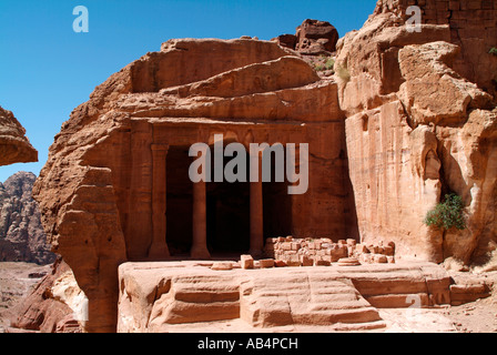 The Garden Temple in Wadi Farasa at Petra in Jordan - Stock Photo