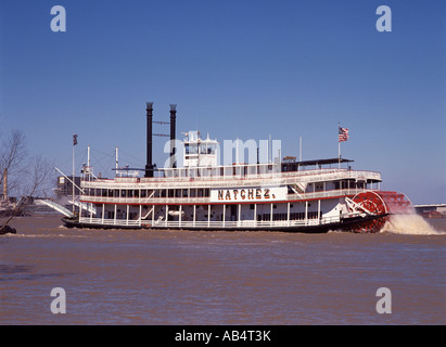 New Orleans, Paddle Steamer Natchez - Stock Photo