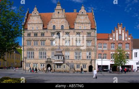 Nytorv In Aalborg Jutland Denmark with Jensens Bøfhus in the old Stock Photo: 87684516 - Alamy