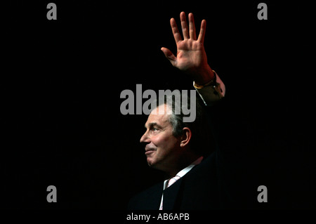 Britain's Prime Minister Tony Blair waves - Stock Photo