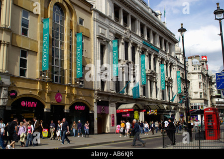 The London Trocadero at Picadilly Circus London England UK - Stock Photo