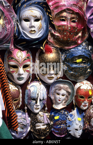 Carnival of Venice masks, Piazza San Marco, Venice Italy - Stock Photo
