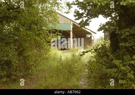 Farm at Spelsbury Oxfordshire - Stock Photo