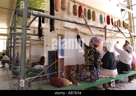 Female Workers In A Traditional Carpet Factory In Hotan