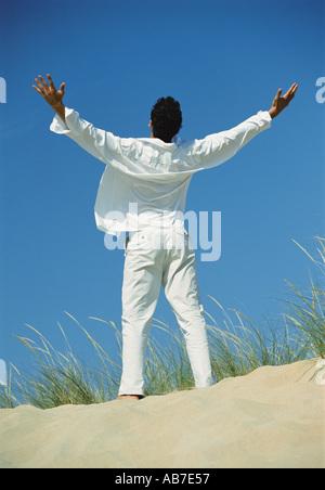 Man rejoicing - Stock Photo