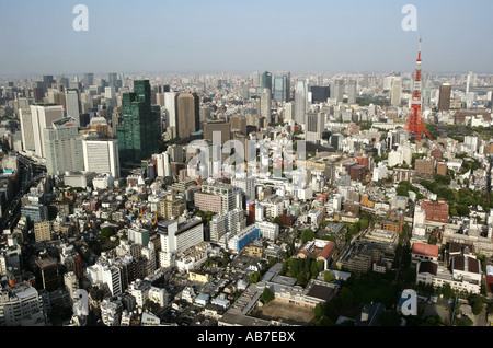 JPN, Japan, Tokyo: View from the observatin deck of Roppongi Hills Mori Tower, Tokyo-City-View. - Stock Photo