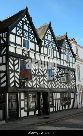 Tudor half timbered building in Lichfield Staffordshire England - Stock Photo