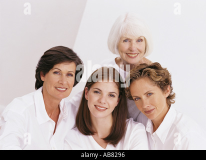 Portrait of four female family members - Stock Photo