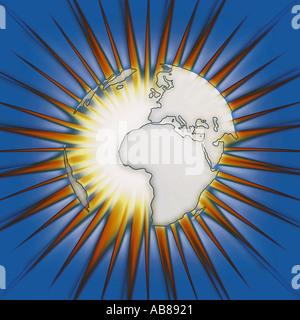 Global starburst - Stock Photo