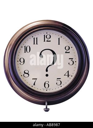 Clock and question mark - Stock Photo