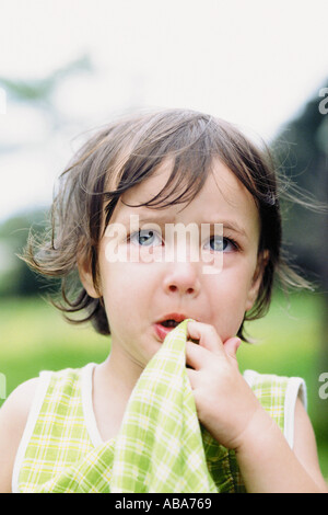 Little girl crying - Stock Photo