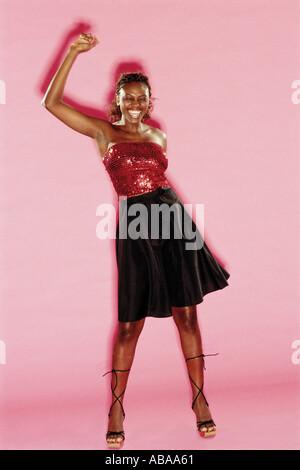 Woman in a black skirt - Stock Photo
