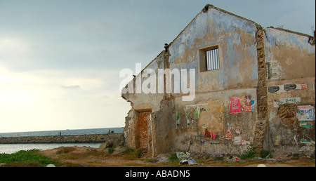 House Effected by the Tsunami - Stock Photo
