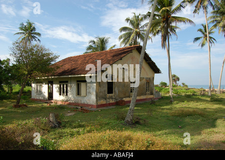 House Effected by the Tsunami in Sri Lanka - Stock Photo