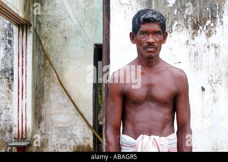 Sri Lankan - House effected by Tsunami - Stock Photo