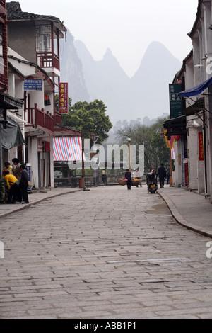 Historic West Street or Xi Jie, Yangshuo, Guangxi Province, China