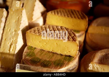 Paris, Market, French Soft Cheese - Stock Photo
