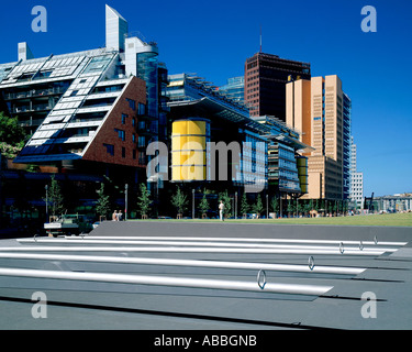 Berlin Mitte Potsdamer Platz Daimer Chrysler Areal modern architekture by Renzo Piano Debis and Richard Rogers 2005 - Stock Photo