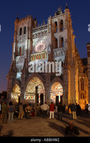 AMIENS CATHEDRAL THE CATHEDRAL OF NOTRE DAME 1220, FRANCE Stock Photo