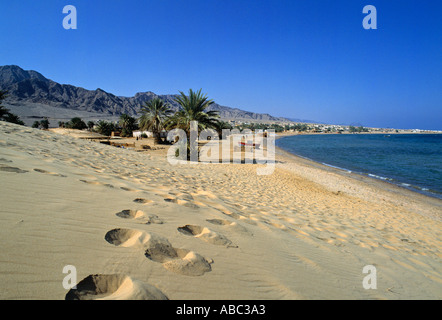 Beach, Nuweiba, Sinai, Egypt - Stock Photo
