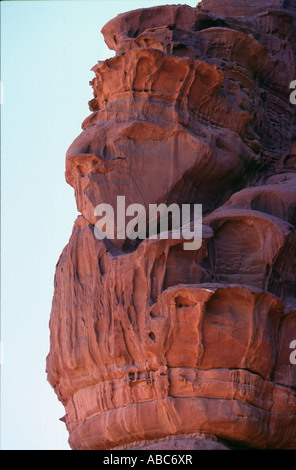 wadi rum desert in jordania location place were been shot movies like indiana jones laurence of arabia or red planet - Stock Photo